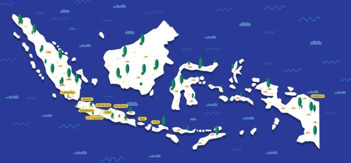 Peta Wilayah Kerja Rutgers WPF Indonesia